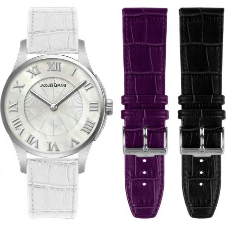 Часы JACQUES LEMANS 1-1536A (комплект с 2 ремешками)